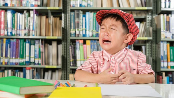 kids crying at library